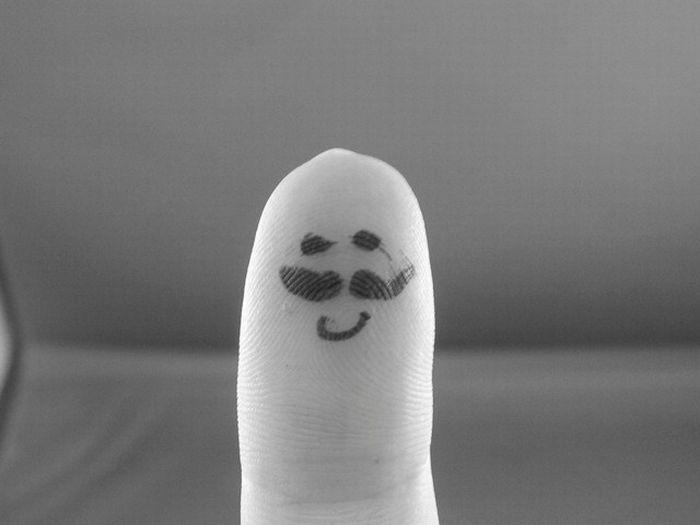 عکس های جدید از هنرنمایی روی انگشت