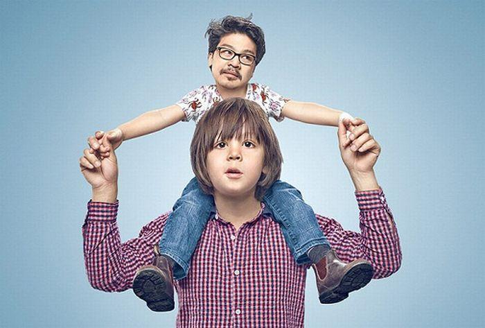 تصاویر فوق العاده خنده دار از تعویض جای فرزند و والدین